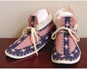 Antique Crow Pink Moccasins