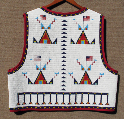 Fully Beaded Vest Back