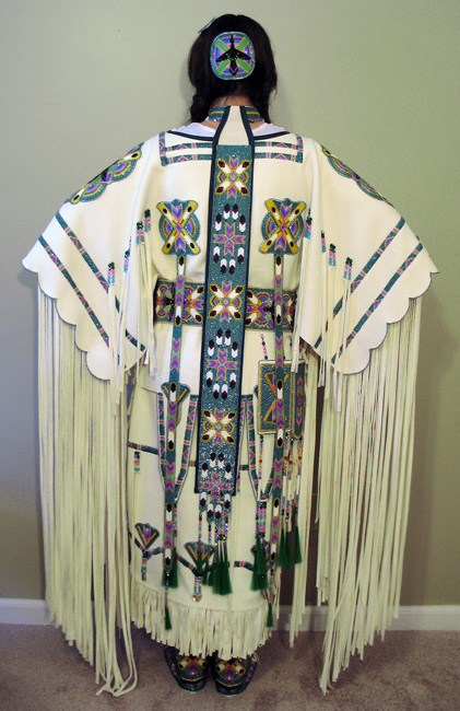 Beadwork powwow regalia and beaded clothing and accessories