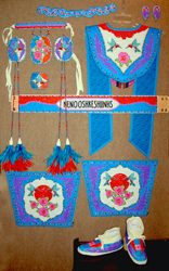 Ladies Fancy Shawl Set