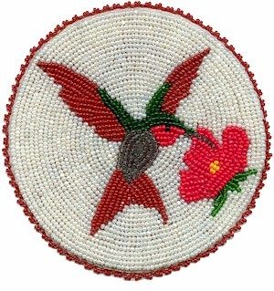 Native American Beaded Rosette Patterns http://kqdesigns.com/humbirdvestb.htm