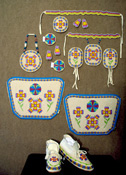 Ladies Jingle Dress Beadwork Set